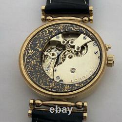 Antique Mécanique Hommes Mariage Luxury Swiss Wristwatch Housse Gilt Cadran Émail