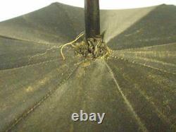 Antique Parasol-8 Point Star Verrière Peinte À La Main Verre Et Émail Fin Avec Plaque D'or