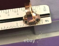 Antique Victorian 10k 14k Perle D'or Émail Noir Sz 7
