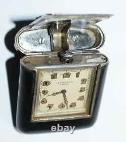 Art Déco Purse Pocket Watch Juvenia Gold Silver Coral France Années 1920
