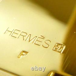 Authentique Hermes CLIC Clac Gm Enamel Bangle De Tonalité En Or Noir #s407007