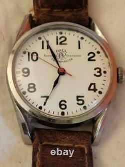 Ball Officiel Trainmaster Mens Wrist Watch 1604b 21 Jewel Railroad 34mm