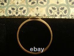 Belle, Joliment Artisanale Ancienne Perle Victorienne & Black Enamel 15ct Bague En Or