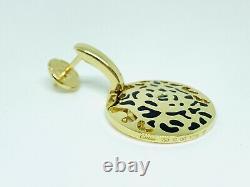 Boucles D'oreilles Cartier Panthere 18k Yellow Gold Tsavorite Et Black Enamel Dangle