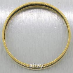 Bracelet En Émail Noir Hermès Gold Plaqué Grand Apparat