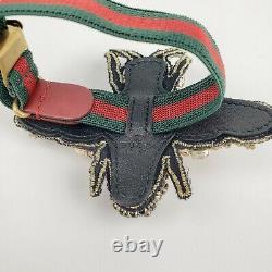 Bracelet Gucci Black/gold Crystal Bee Bracelet Withtiger Head Et Grg Elastic Band 515833