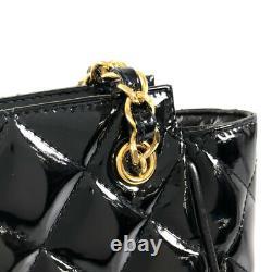 Chanel Matrasse Chaîne Noir X Or Matériel Émail Sac À Main Pour Femmes Du Japon