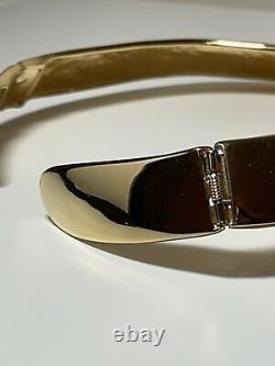 Collier De Collier En Émail Noir Teinté D'or Givenchy Vintage