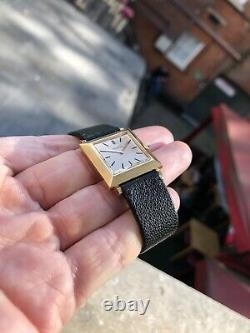 Gents / Unisexe Boucheron En Or Rose 18 Carats 1950 Rare Or Automatique Réservoir Cadran En Émail