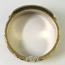 Géorgie 1813 Bague En Or 18 Carats En Émail Noir & Pearl Deuil Panneaux Cheveux Taille P