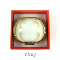 Hermes Authentique H Logo D'or Et Noir Bracelet 12mm Boucle Bracelet