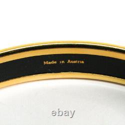 Hermes Emmaille Belt Cloisonné/émail Bangle Black, Or Bf511587