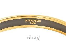 Hermes Plaqué Or / Émail Noir Emaiyu Bracelet F02321