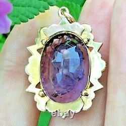 Immaculé Victorien 15k Or Améthyste Incrusté Diamond Black Enamel & Pearl Pendentif