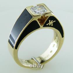 Korloff Yasmine Black Enamel Radiant Diamond. Bague 62 Carats 18k Or Jaune