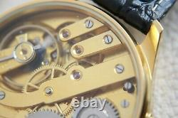 L. U. Chopard Luc Vintage Début 1900 Émaillé Skeleton Nouveau Boîtier Swiss Wristwatch