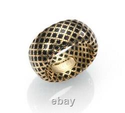 Nib Gucci Diamantissima 18k Yellow Gold Black Enamel Band Taille 5,25 $ 1 205 $