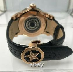 Nouvelle Watchstar Zen Master Rose Gold Black Enamel Skeleton Dial Exotic 47mm Montre