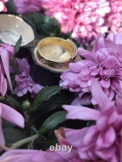 Or Jaune Antique Victorienne 15ct Perle Noire Émail Cheveux Bague