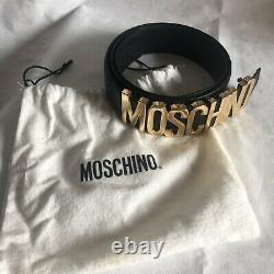 Or Vintage Moschino Et Ceinture Émail Noir