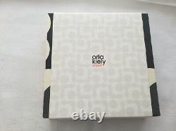 Orla Kiely Ladies Daisy Noir Et Crème Collier Fleur D'émail