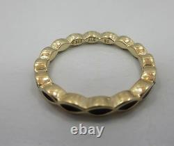 Pandora 14k Gold Royal Victorian Black Enamel Stacking Ring 150173en16 Taille 7,25