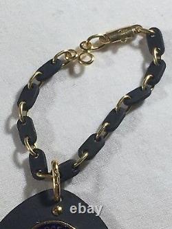 Porte-clés Mercedes Solid 18ct Gold Émail En Granit Fob