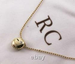 Roberto Coin 18k Gold Diamond Black Enamel Wink Smiley Emoji Collier Pendentif