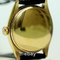 Rolex 6085 Verre Enamel Cloisonné 1952 Boîtier En Or Massif 18k Et Cadran Peacock Blanc