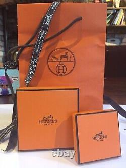 Superbe Hermes Authentique Nouveau Extra Wide Black / Gold CLIC Clac Coût £ 680 Réception XL