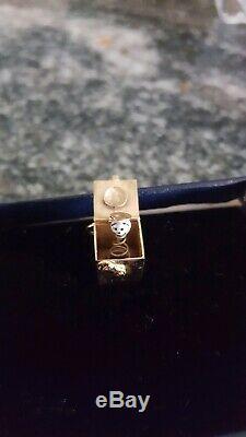 Tiffany & Co. 14kt Or Jack Dans Le Charme D'émail Blanc Boîte Noire Rarissime