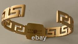 Versace Italie Medusa Logo Noir Cristal Bracelet Émaillé