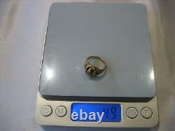 Vintage 1949 Signé Josten 10k Yellow Gold Black Enamel Class Ring Size 5.25