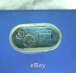 Vintage Authentique Cartier Roy King Gold Marine En Émail Noir Plaqué Lighter Rare