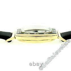 Vintage Hamilton Coronado 14k Gold & Black Enamel Mechanical Wrist Watch 19j 979