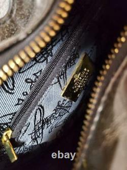 Vivienne Westwood Enamel Heart Bag Sac À Main En Or Noir Big Orb