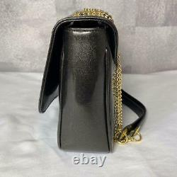 Vivienne Westwood Shoulder Bag Chain Orb Enamel Black Gold Original Used F/s Jpn