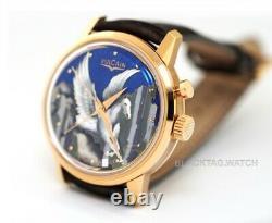 Vulcain Cloisonne 50 Présidents L'alarme Pegasus Enamel 200550.318l Wristwatch